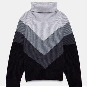 Wilfred Free Tilbert chevron turtleneck sweater